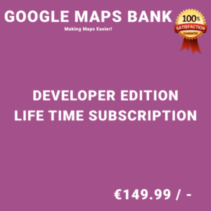 Google Maps Bank Developer Edition – Life Time Purchase