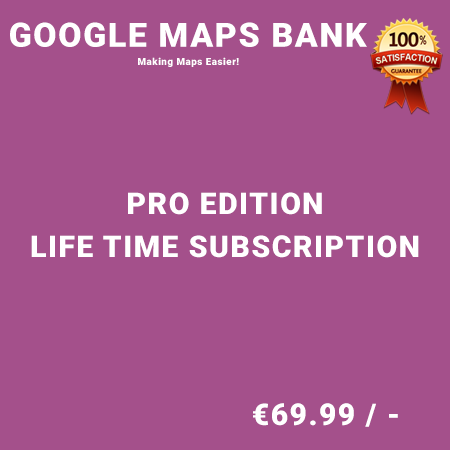 Google Maps Bank Pro Edition – Life Time Purchase