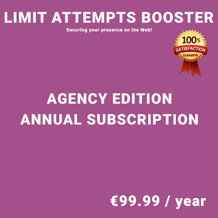 Limit Attempts Booster Agency Edition - Annual Subscription