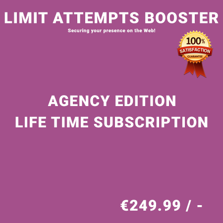 Limit Attempts Booster Agency Edition - Life Time Purchase