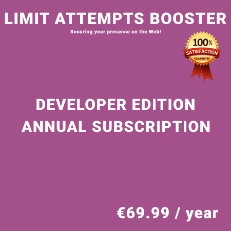 Limit Attempts Booster Developer Edition - Annual Subscription