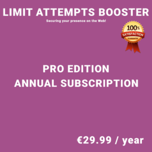 Limit Attempts Booster Pro Edition - Annual Subscription