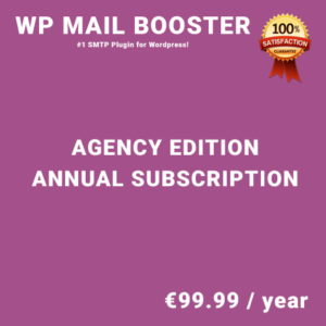 WP Mail Booster Agency Edition - Annual Subscription