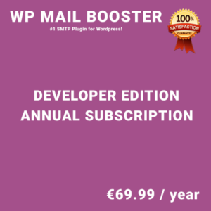 WP Mail Booster Developer Edition - Annual Subscription