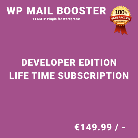 WP Mail Booster Developer Edition – Life Time Purchase