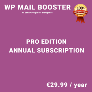 WP Mail Booster Pro Edition - Annual Subscription