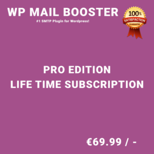 WP Mail Booster Pro Edition – Life Time Purchase