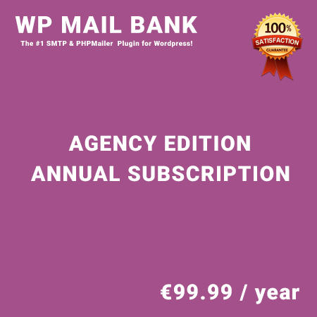 WP Mail Bank Agency Edition - Annual Subscription