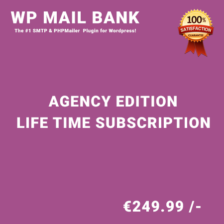 WP Mail Bank Agency Edition – Life Time Purchase