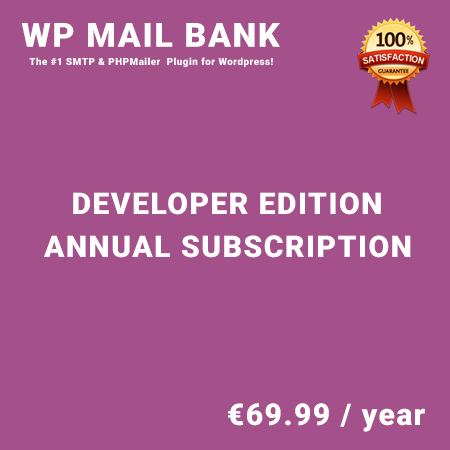 WP Mail Bank Developer Edition - Annual Subscription