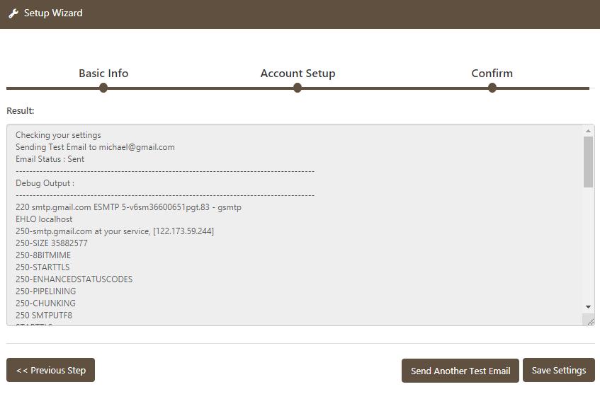 WP Mail Bank Email Setup Confirm Debug