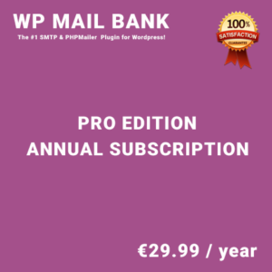 WP Mail Bank Pro Edition - Annual Subscription