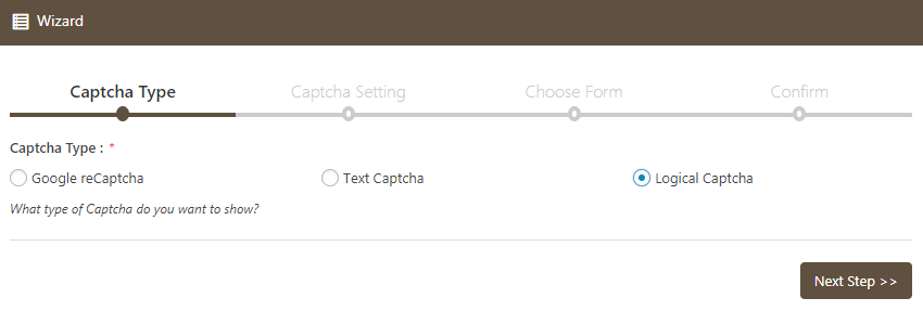Captcha Type Logical Captcha