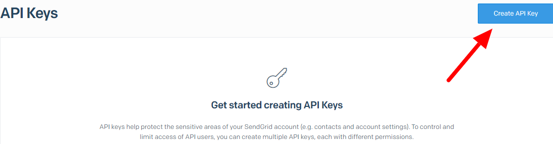 Create Sengrid Api Key