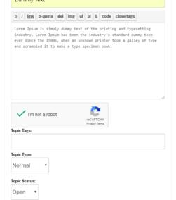 Google reCaptcha bbPress New Topic Form