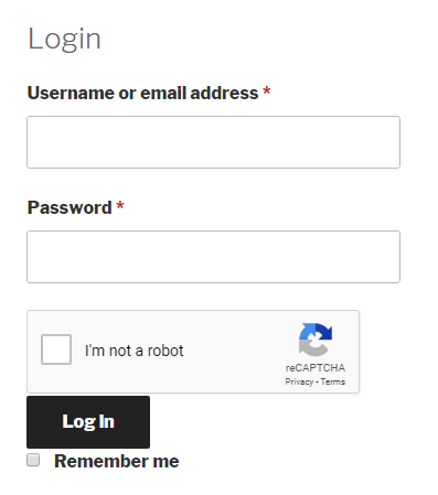 Google Recaptcha Woocommerce Login Form