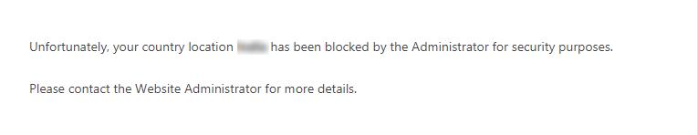 Add Custom Error Message Block Country