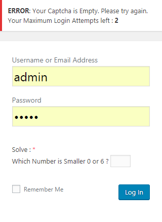 Add Custom Error Message Empty Captcha