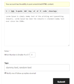 Logical Captcha bbPress Reply To Topic Form
