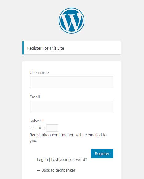 Logical Captcha Register Form