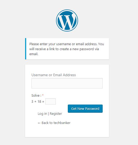 Logical Captcha Reset Password Form