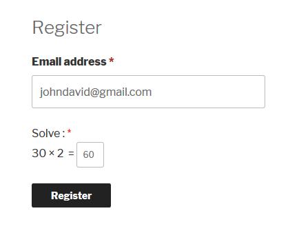 Logical Captcha Woocommerce Registration Form