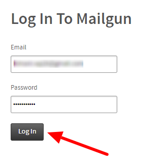 Login to Mailgun