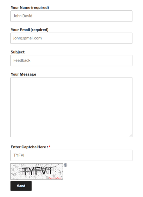 Text Captcha Contact Form 7