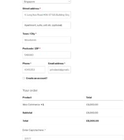 Text Captcha Woocommerce Checkout Form