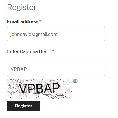 Text Captcha WooCommerce Registration Form