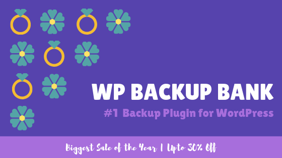 WP Backup Bank Deal Banner
