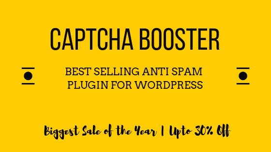WP Captcha Booster Deal Banner