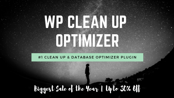WP Clean up Optimizer Deal Banner