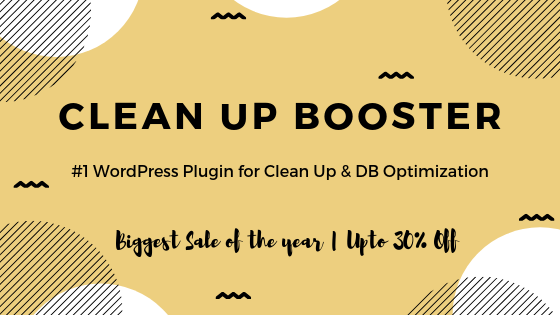 WP Clen up Booster Deal Banner
