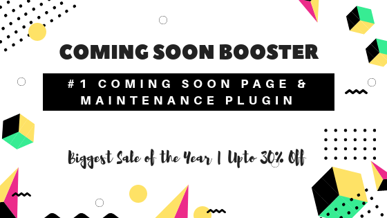 WP Coming Soon Booster Deal Banner