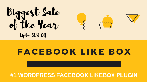 WP Facebook Like box Deal Banner