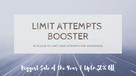WP Limit Attempts Booster Deal Banner