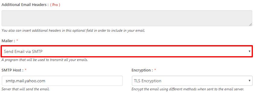 Yahoo Mailer Type via SMTP