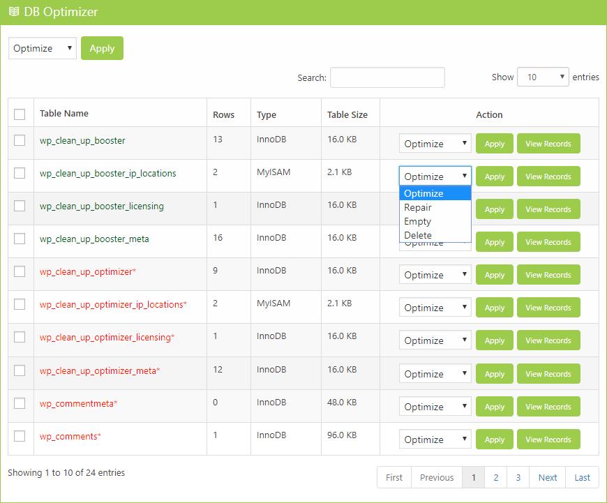 Database Optimizer Clean Up Optimizer