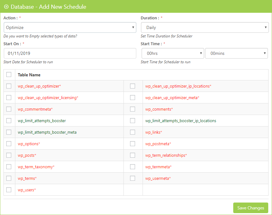Database Scheduler Optimizer Clean Up Optimizer