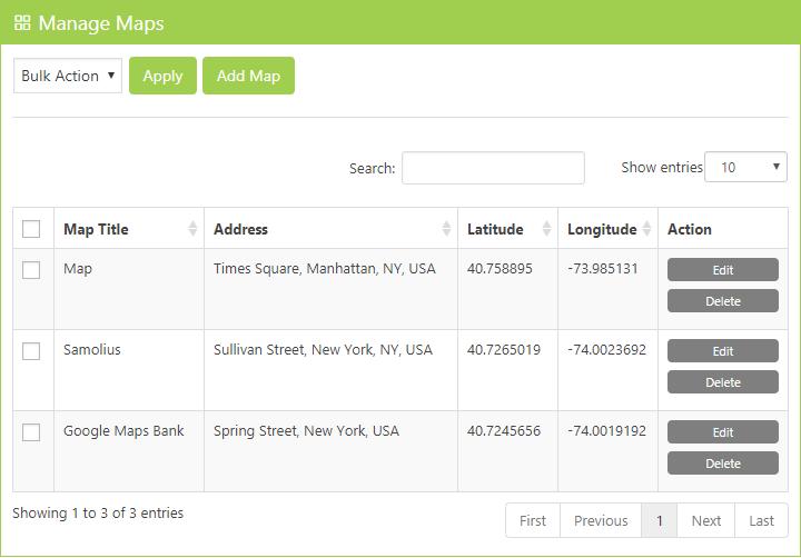 Manage Maps