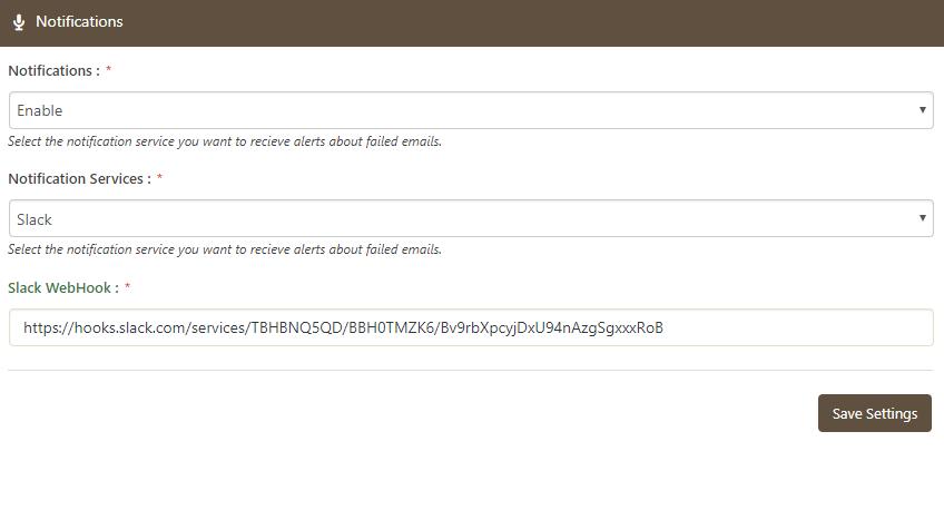 Slack Notification Service