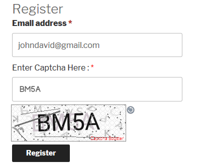 WooCommerce Register Form Text Captcha