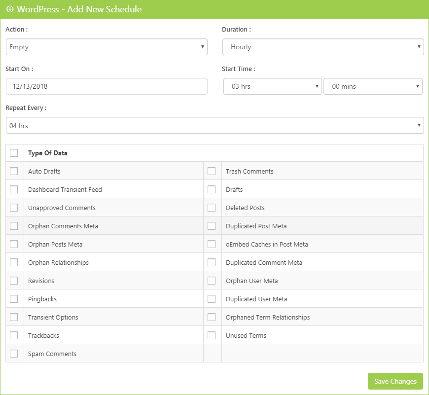WordPress Scheduler Clean Up Optimizer