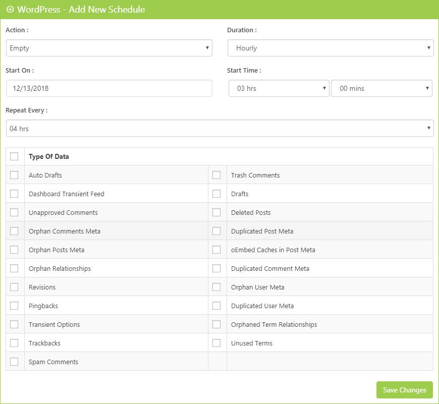 WordPress Scheduler Clean Up Optimizer