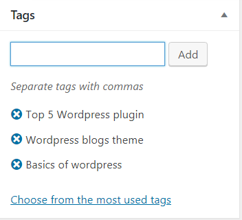 Add Tags After Completing The Post