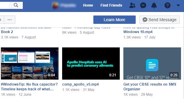 All Videos Facebook