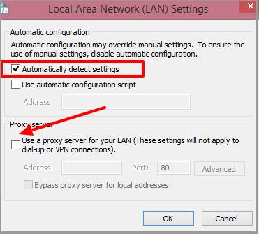 Automatic Detect Settings