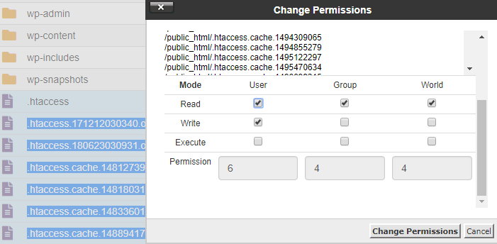 Change File Permission Numerical Value