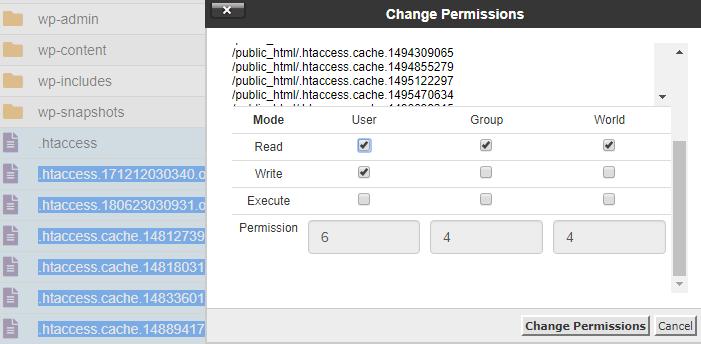 Change File Permission Numerical Value